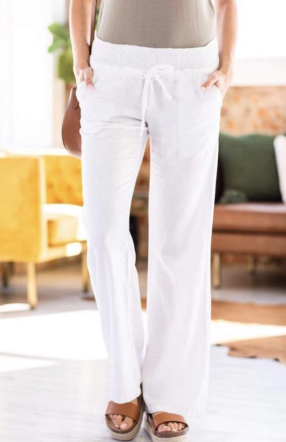 Linen trousers 20% off using my code below