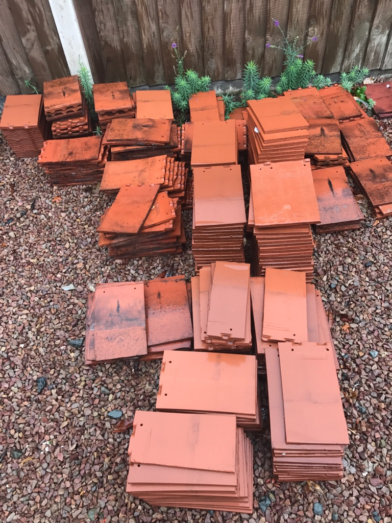 Roof tile - red, new & used