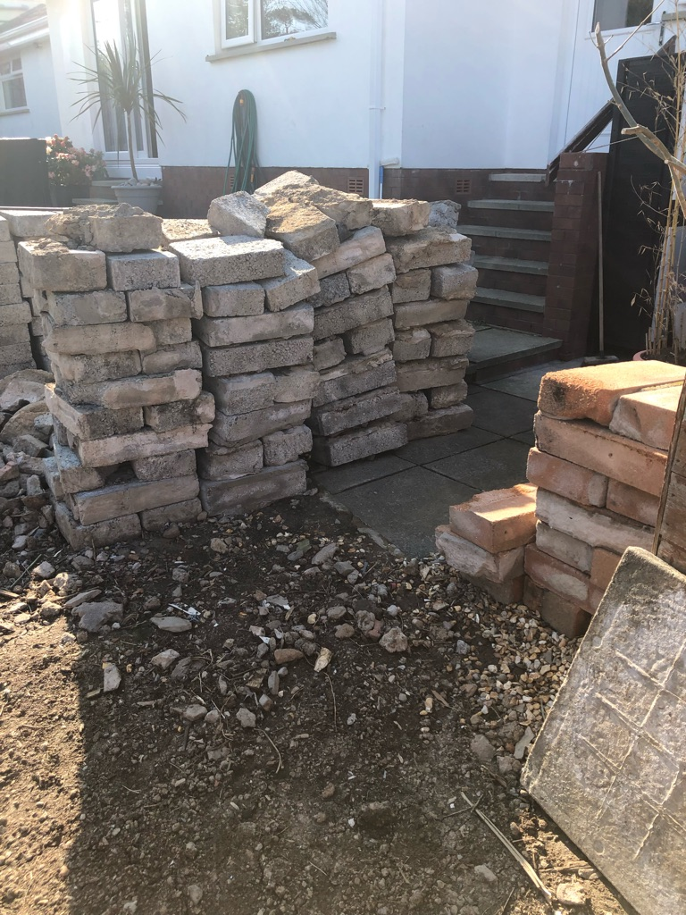 Concrete Used Blocks for hard filling free must pickup