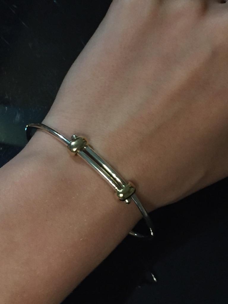 Brand new James Avery sterling silver & 14 k bracelet