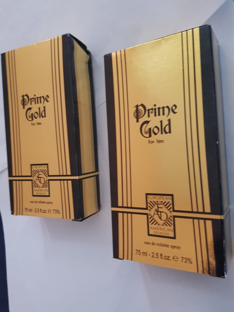 Brand New Men's Prime Gold Spray x2
