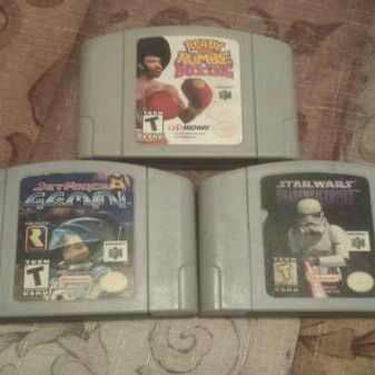 Nintendo 64 N64 Star Wars Ready 2 Rumble Jet Force