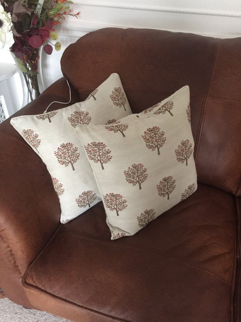 Quality winter curtains with 4 matching scatter cushions