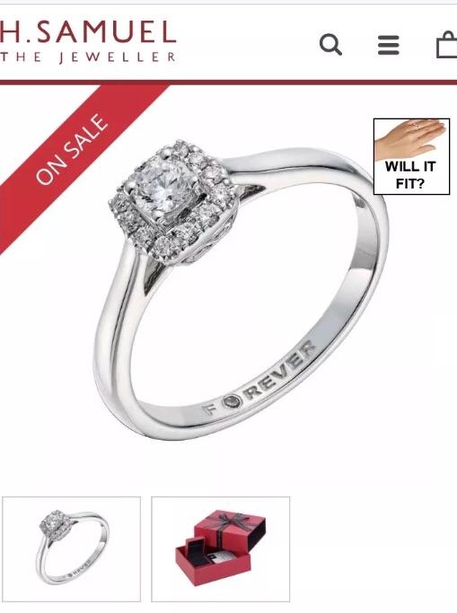 18ct White Gold 1/4 Carat Forever Diamond Ring.