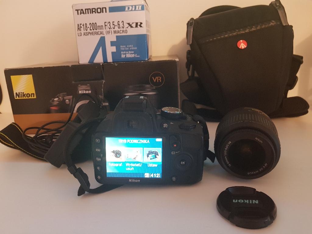 Nikon D3100 18-55 VR kit + Tamron AF 18-200
