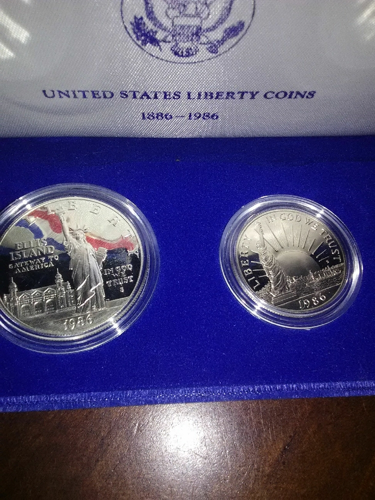 1986 S Proof Set Liberty Coins