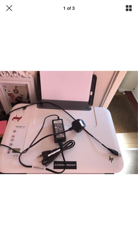 HP Deskjet printer with color and black ink