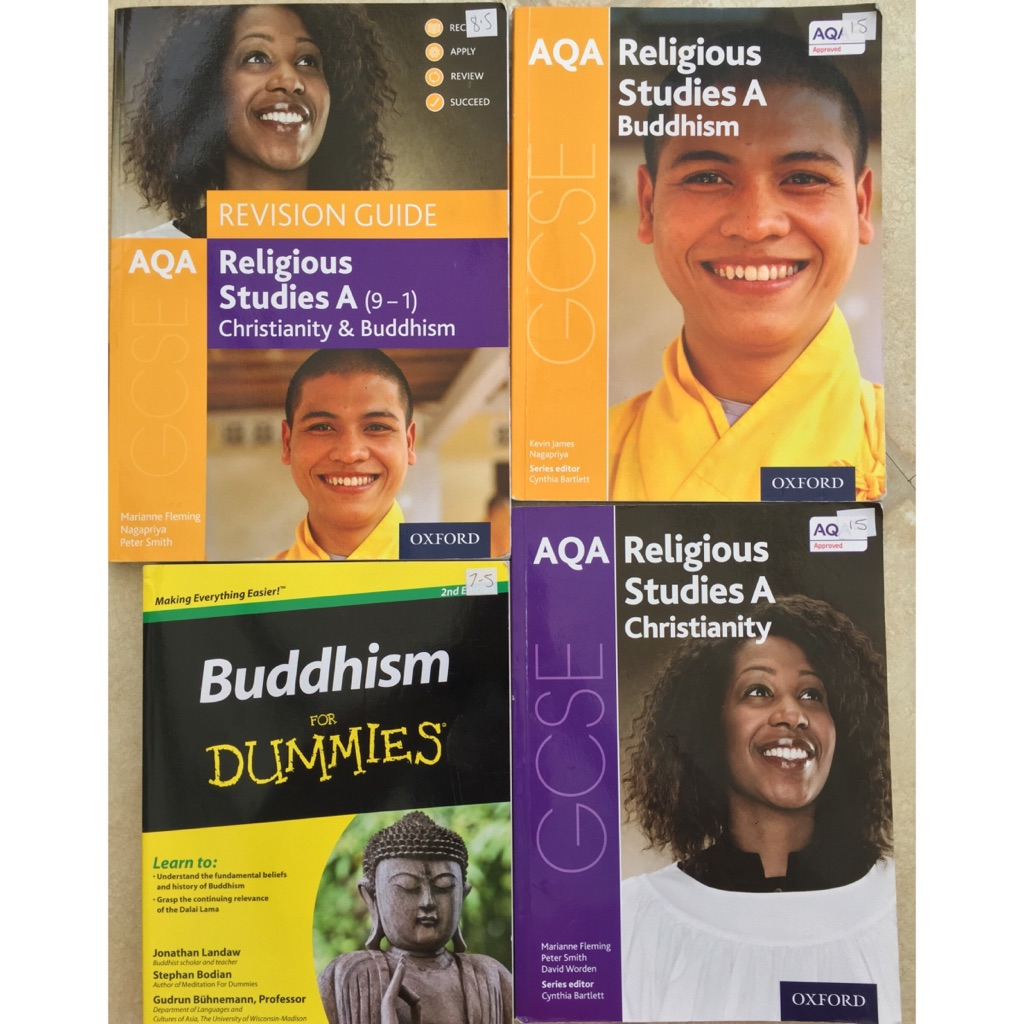 NEW GCSE 9-1 AQA RS RELIGIOUS STUDIES REVISION AND PRACTICE TEXTBOOKS CHRISTIANITY AND BUDDHISM