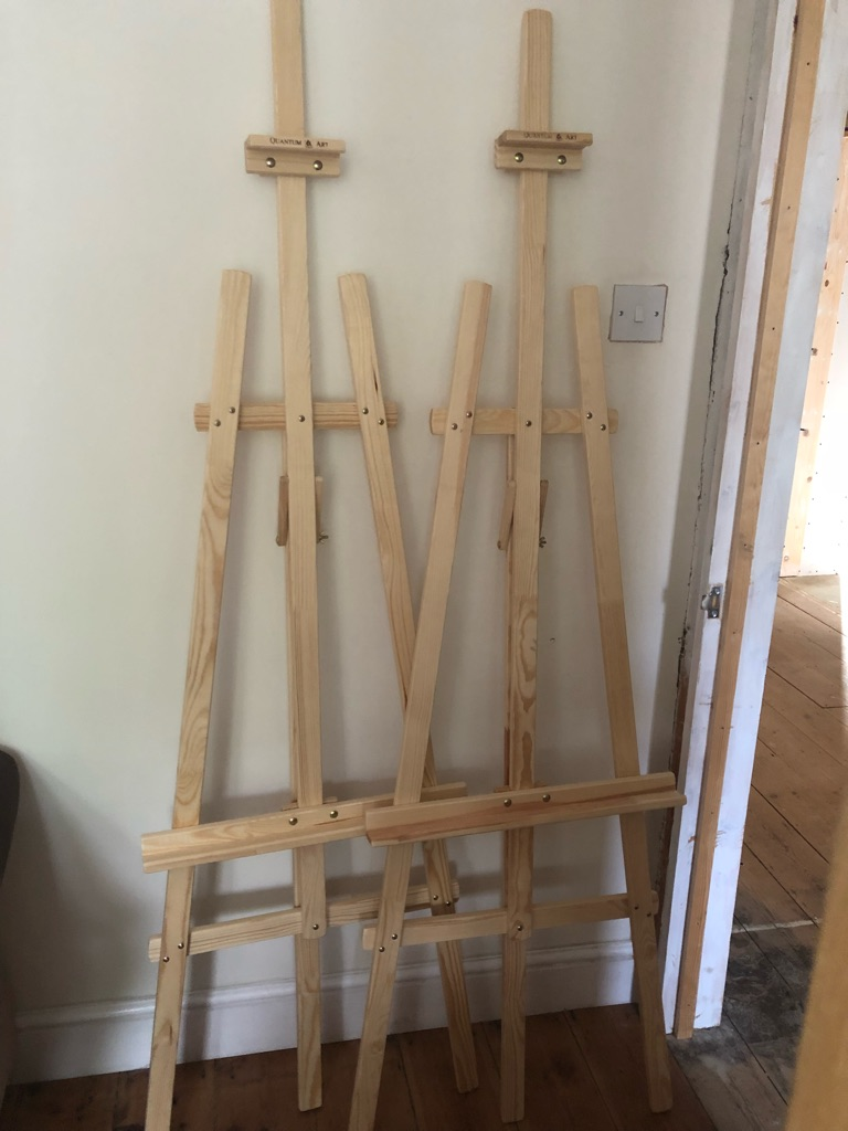 Pine easels