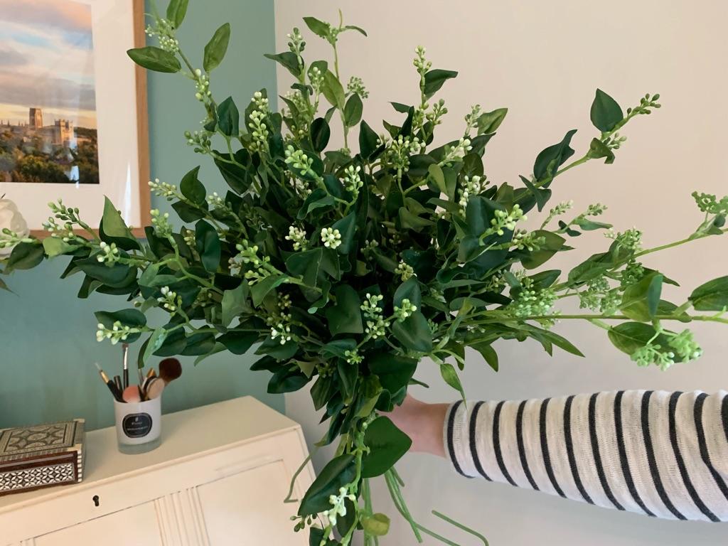 Silk foliage (greenery with buds and eucalyptus)
