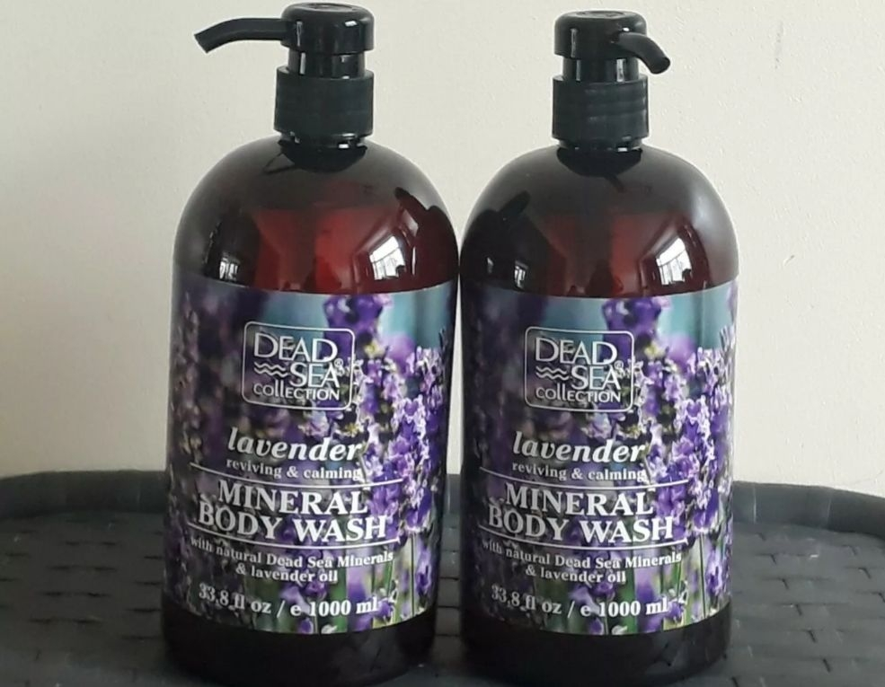2×DEAD SEA COLLECTION LAVENDER  MINERAL BODY WASH REVIVING AND CALMING 2×1000ML