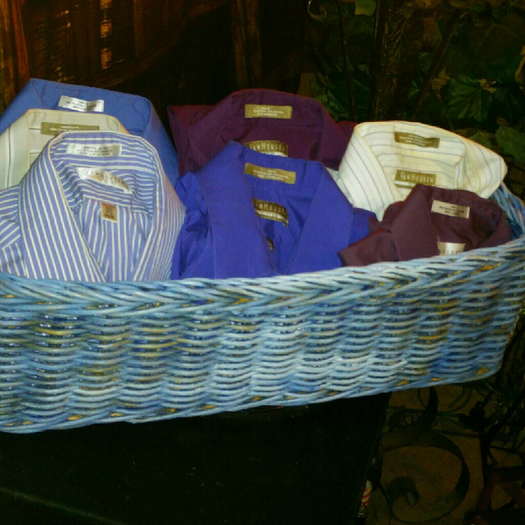 7 Van Heusen DRESS Shirts