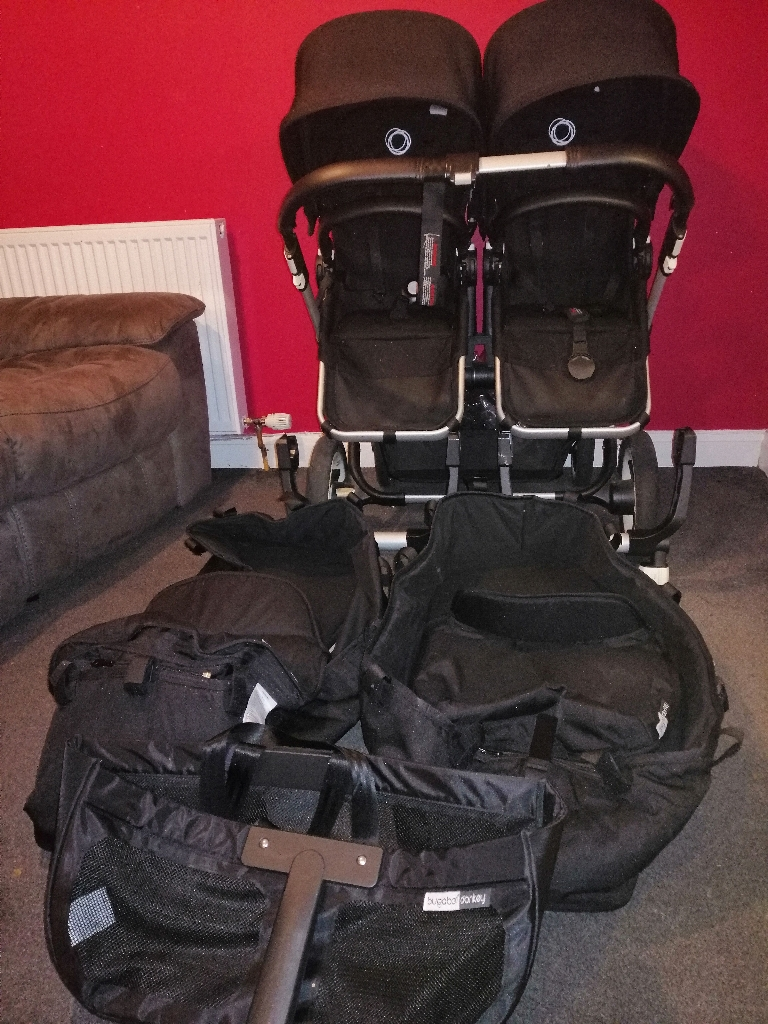 Twin Bugaboo Donkey (man. Dec 2015) full travel system
