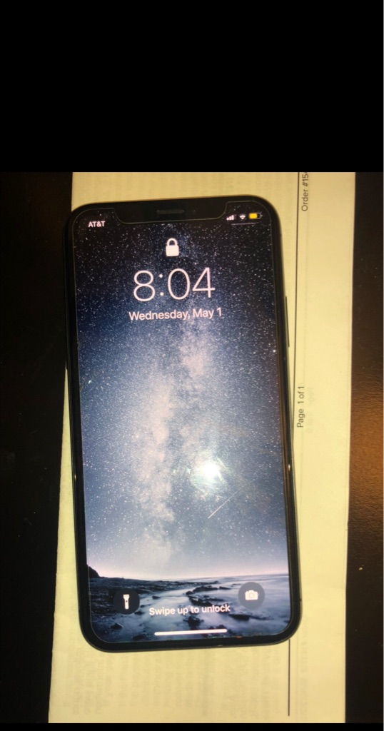 AT&T iPhone X black/64gb