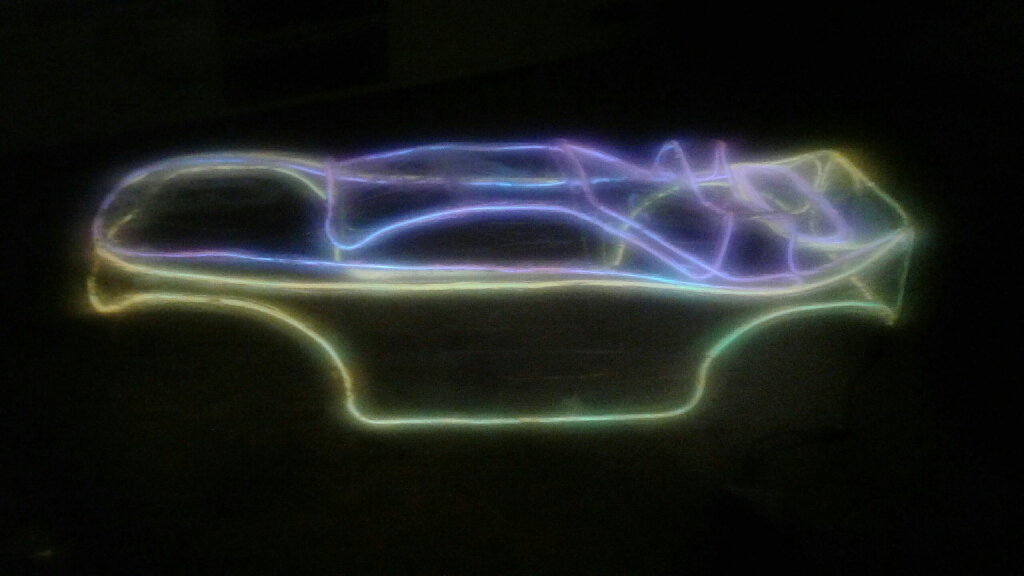 """Neon"" Light up R/C truck & car bodies."