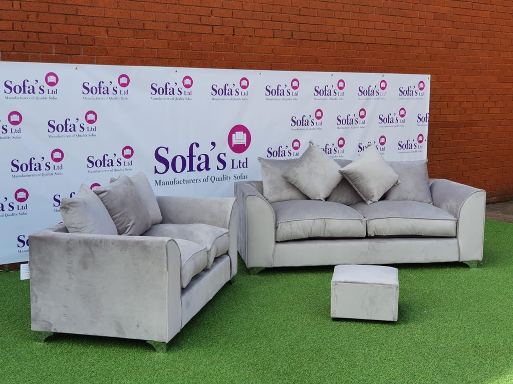 🚛FREE DELIVERY🚛BRAND NEW PLUSH VELVET 3+2 SOFA SET WITH FREE MATCHING FOOTSTOOL INCLUDED✅