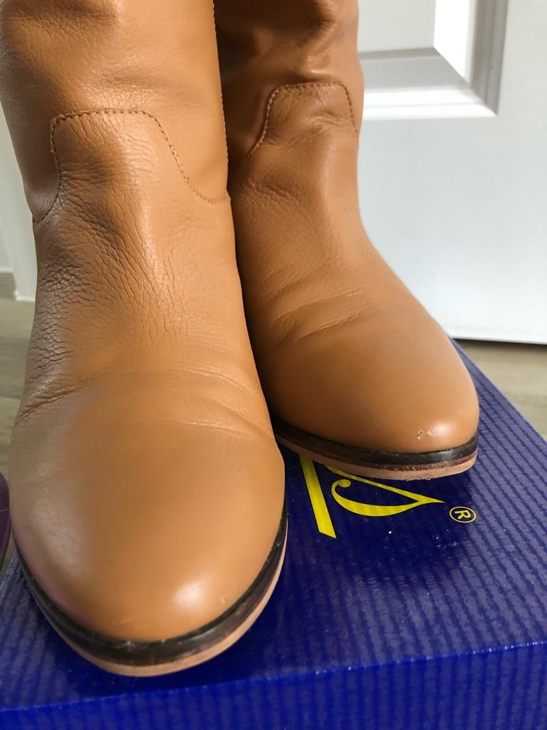 Flip Flop leather knee boots