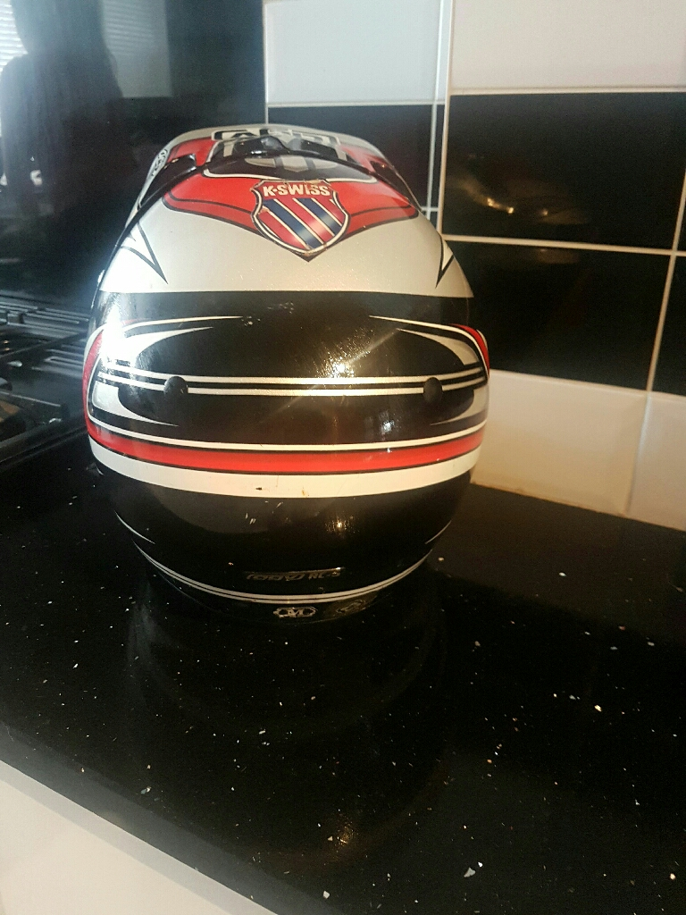 Medium size motor cross helmet