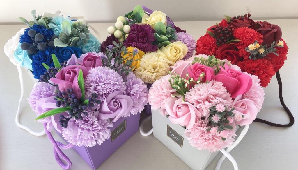 Floral Soap Bouquets