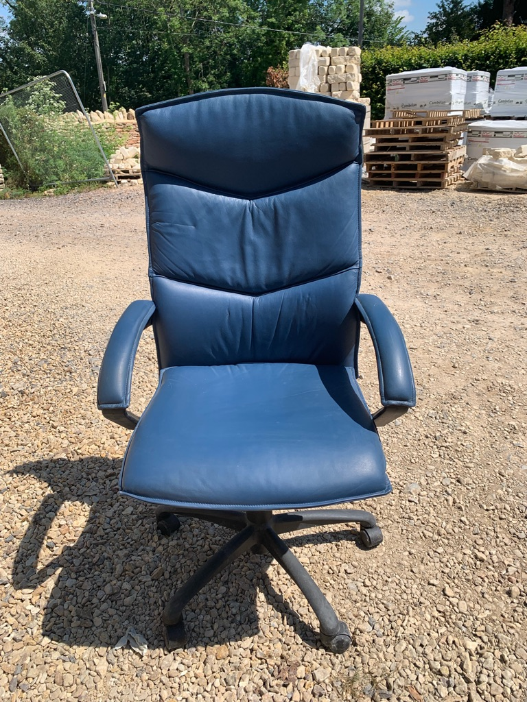 REAL LEATHER high back executive chair
