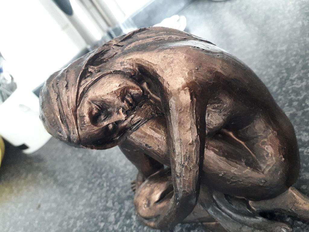 Bronze Effect lady figure ornament