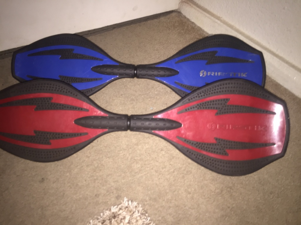 Red and blue ripstick