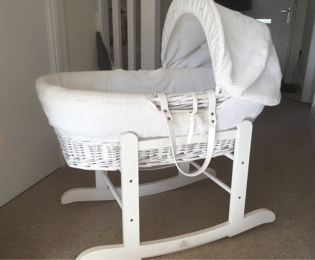 Lovely wicker Moses basket