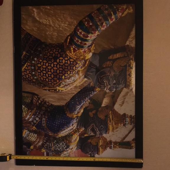 Thailand Kings Palace Monkey Print 82cms x 107cms