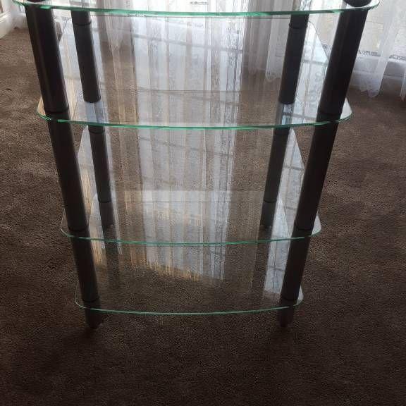 Glass desplay/ hifi unit
