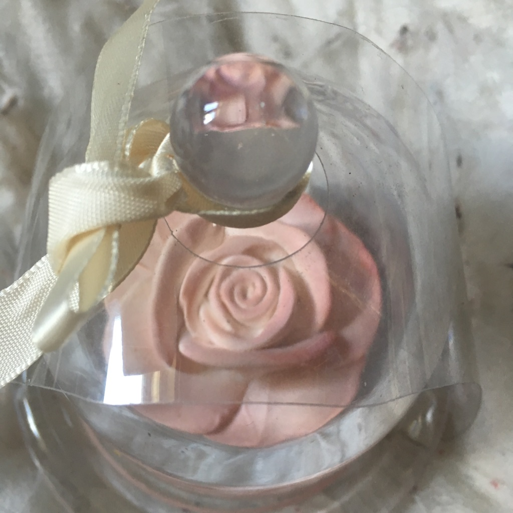 Scented rose ornament