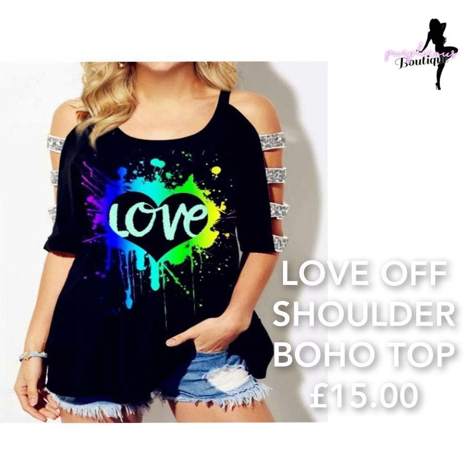 LOVE OFF SHOULDER BOHO TOP