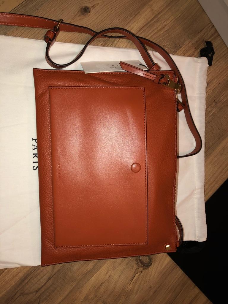 Sandro messenger bag in tan