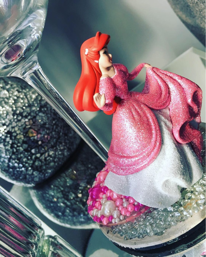 Little mermaid glass