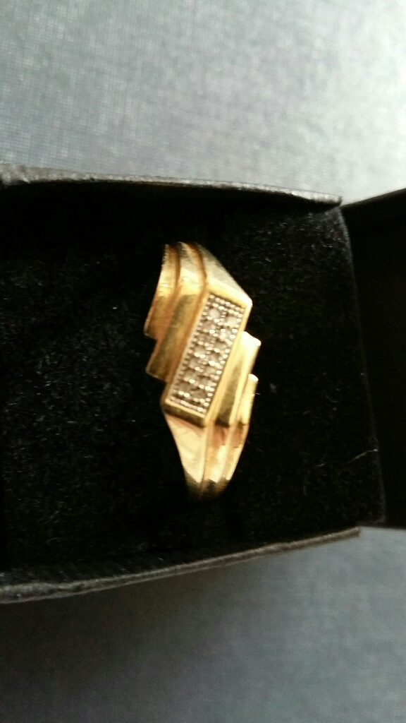 9ct gold mens ring