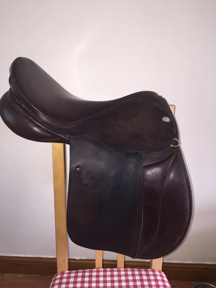 Brown English leather GP saddle