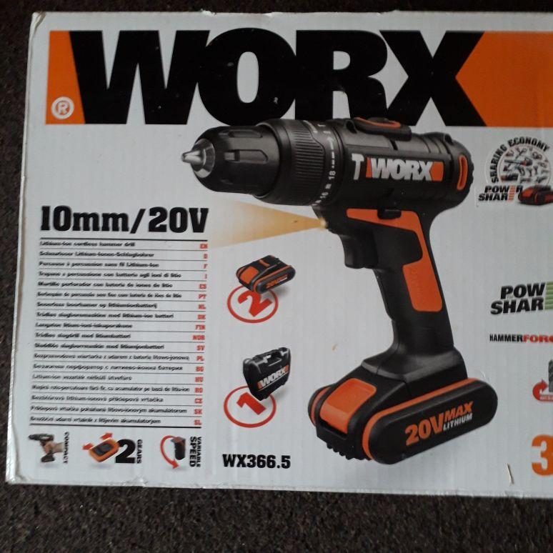 Worx hammer drill 20v powershare