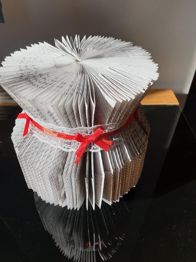 Book folded vase