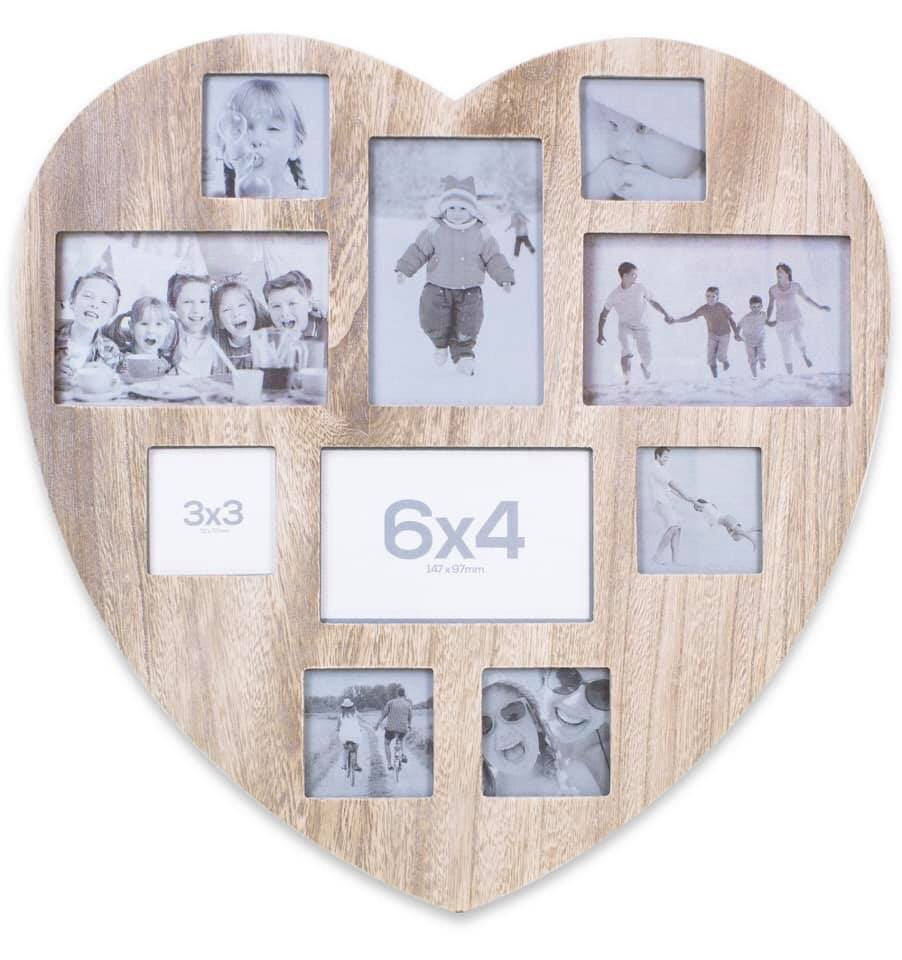 Heart shaped collage frame