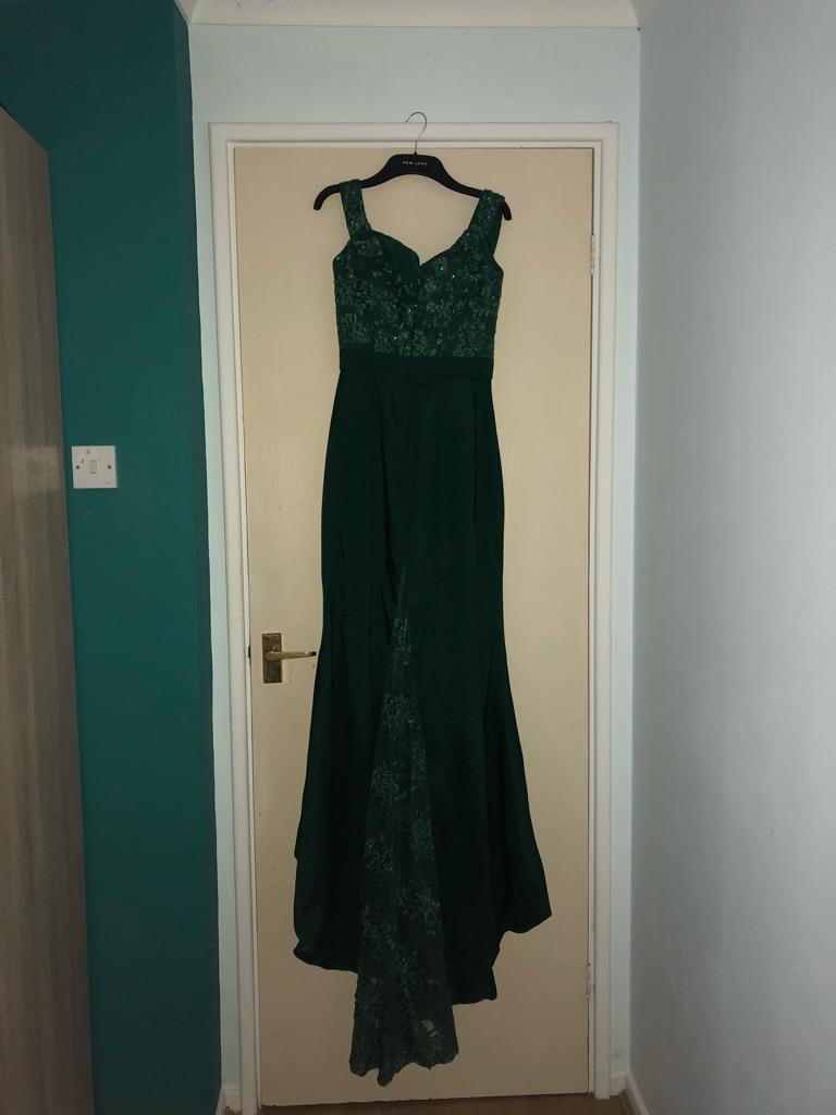 Emerald Green Prom Dress Size 8