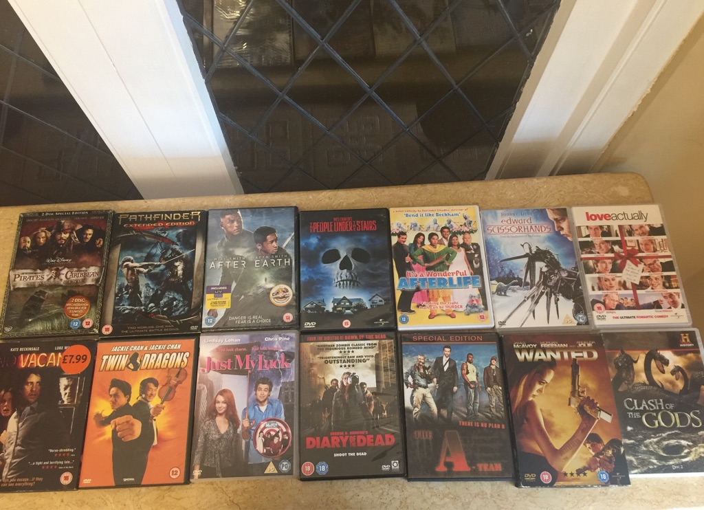 DVDs pick and choose £2 each