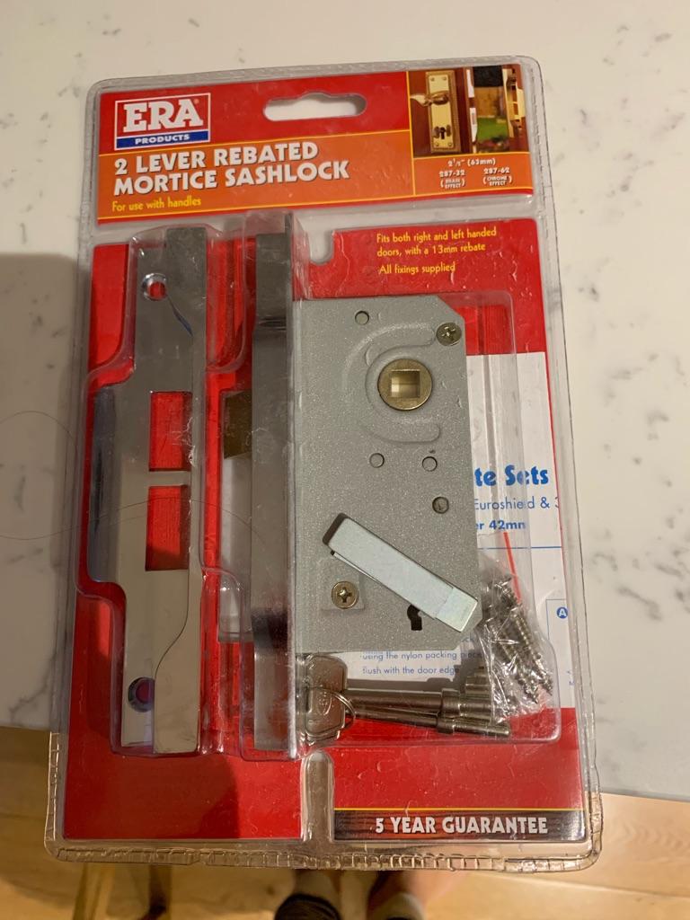 ERA 2 lever rebated mortice sashlock