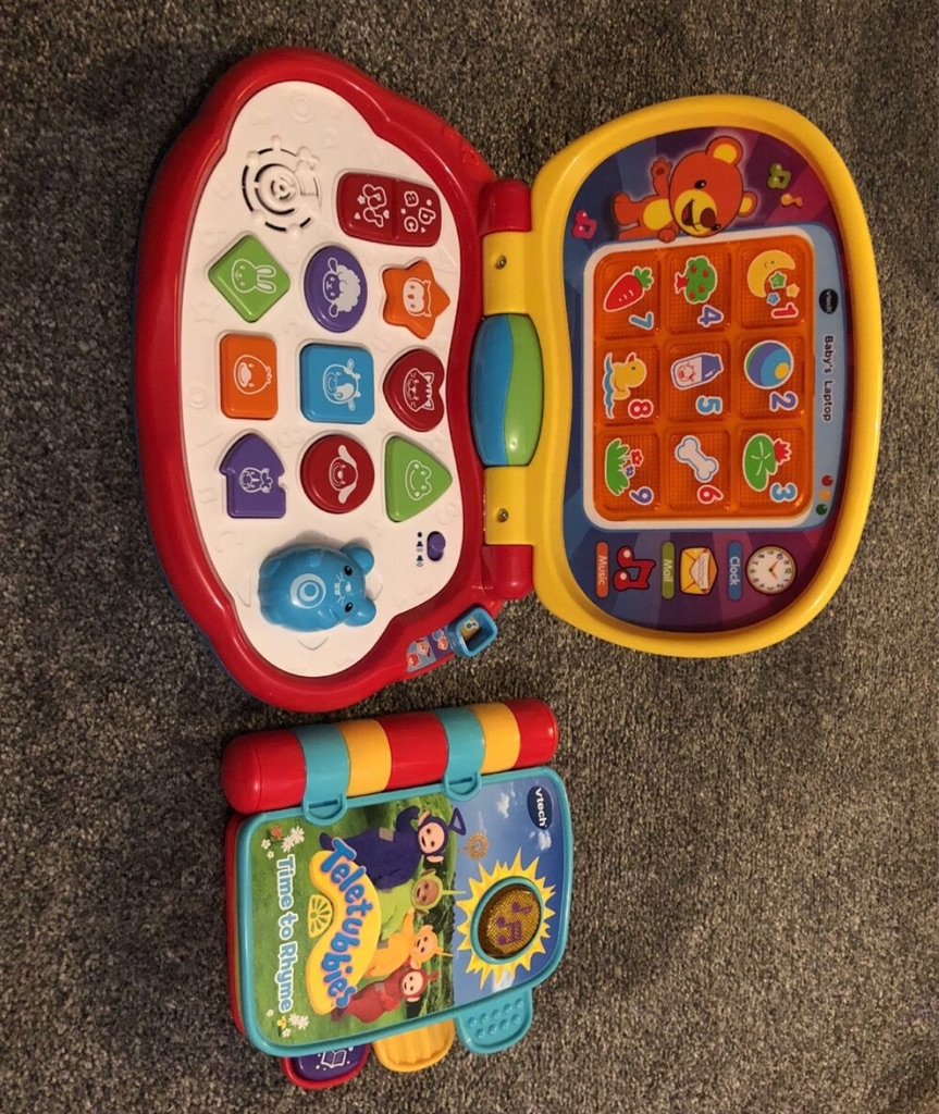 Vtech bundle my first laptop and learn and crawl musi