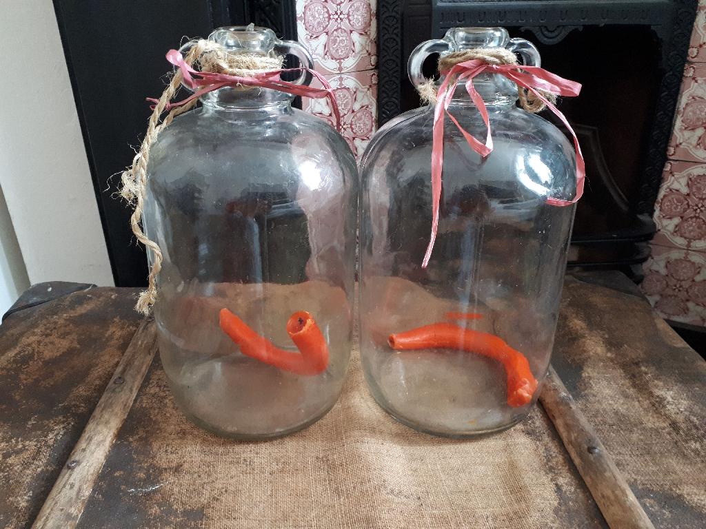 Glass bell jars