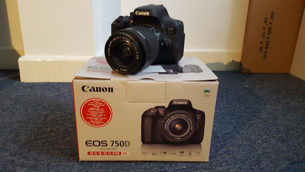 Canon  EOS 750D 24.4MP DIGITAL SLR CAMERA