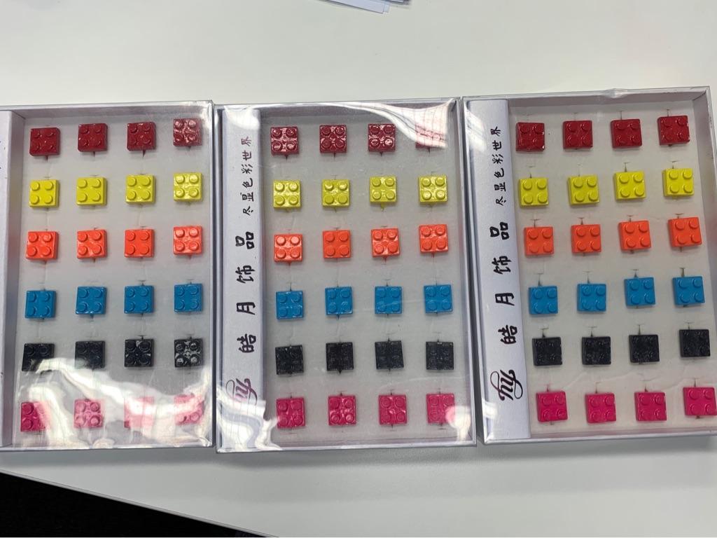 72 Lego Rings. Metal. Adjustable. New inc Trays.