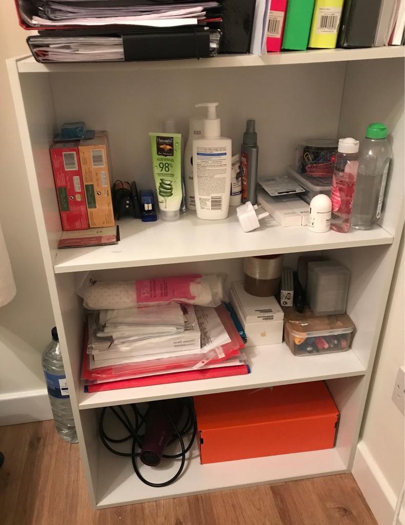 White shelves unit