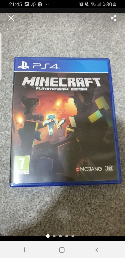 PS4 game Minecraft BRAND NEW