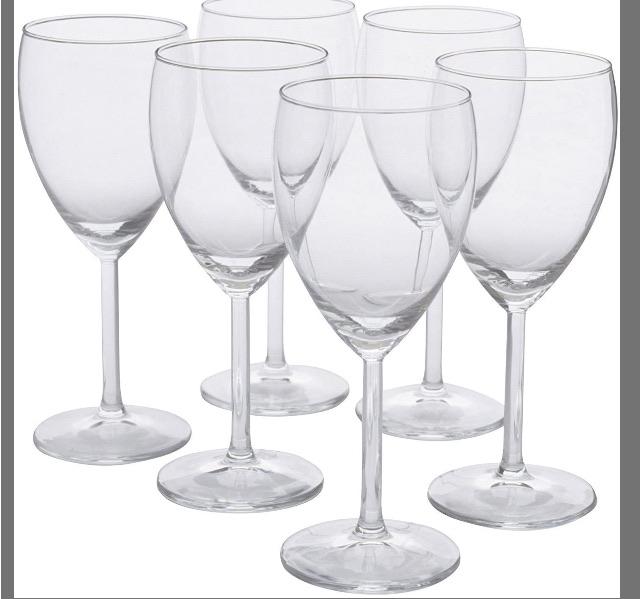 IKEA SVALKA - New Wine glasses, clear glass / 6 pack in box