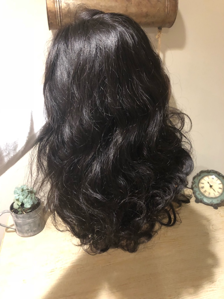 16 in human hair wig
