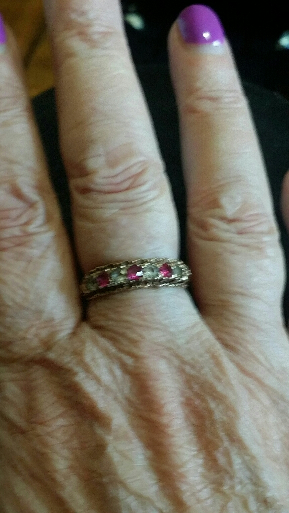 9ct gold Ruby & CZ ring